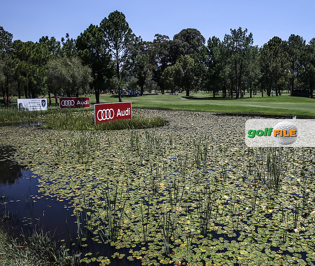 View over the lily pond on the 7th  during Round Three of the 2016 Tshwane Open, played at the Pretoria Country Club, Waterkloof, Pretoria, South Africa.  13/02/2016. Picture: Golffile | David Lloyd<br /> <br /> All photos usage must carry mandatory copyright credit (&copy; Golffile | David Lloyd)