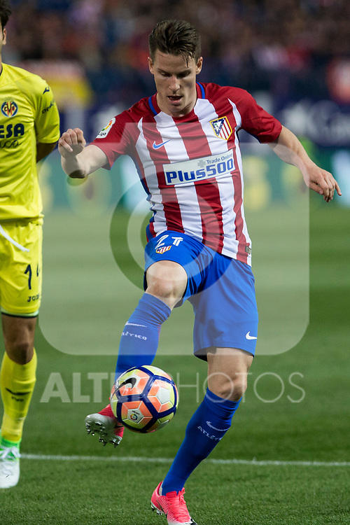 Kevin Gameiro of Atletico de Madrid during the match of La Liga between Atletico de Madrid and Villarreal at Vicente Calderon  Stadium  in Madrid, Spain. April 25, 2017. (ALTERPHOTOS/Rodrigo Jimenez)