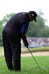 Angel Cabrera second shot to the 16th hole in the third round of the BMW PGA Championship on the 26th of May 2007 at the Wentworth Golf Club, Surrey, England. (Photo by Manus O'Reilly/NEWSFILE)