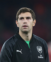 Arsenal's Emiliano Martinez<br /> <br /> Photographer Rob Newell/CameraSport<br /> <br /> UEFA Europa League Group E - Arsenal v FK Qarabag - Thursday 13th December 2018 - Emirates Stadium - London<br />  <br /> World Copyright &copy; 2018 CameraSport. All rights reserved. 43 Linden Ave. Countesthorpe. Leicester. England. LE8 5PG - Tel: +44 (0) 116 277 4147 - admin@camerasport.com - www.camerasport.com