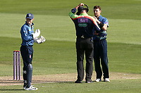 Umpire David Millns informs Kent bowler Matt Henry that he will not be able to bowl after delivering a second no-ball during Essex Eagles vs Kent Spitfires, Royal London One-Day Cup Cricket at The Cloudfm County Ground on 6th June 2018