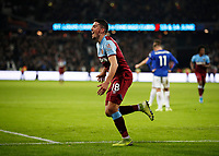 28th December 2019; London Stadium, London, England; English Premier League Football, West Ham United versus Leicester City; Pablo Fornals of West Ham United celebrates after scoring his sides 1st goal in the 45th minute to make it 1-1 - Strictly Editorial Use Only. No use with unauthorized audio, video, data, fixture lists, club/league logos or 'live' services. Online in-match use limited to 120 images, no video emulation. No use in betting, games or single club/league/player publications