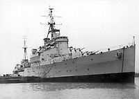 BNPS.co.uk (01202 558833)<br /> Pic: TWGaze/BNPS<br /> <br /> HMNZS Gambia.<br /> <br /> A forgotten account of a tragic incident just as WW2 was finally ending has emerged in the diaries of a British midshipman.<br /> <br /> The officer's log exposes a potential cover up over the deaths of five seamen who were apparently killed in the final salvos of World War Two.<br /> <br /> Midshipman John Pike wrote of how at the very moment the order to cease fire against Japan on August 15, 1945 came through his ship came under attack by a lone kamikaze aircraft.<br /> <br /> The dive bomber fired its machine guns at the quarterdeck of HMS Gambia, prompting the crew to scatter and the ship to fire its guns in retaliation.<br /> <br /> Moments later two American Corsair fighter planes arrived and shot the enemy plane out of the sky. <br /> <br /> With the danger cleared the crew of the navy cruiser gathered themselves and realised that five men had been killed by the machine gun fire.