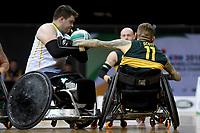 Ryan Scott (AUS)  vs Ireland<br /> Australian Wheelchair Rugby Team<br /> 2018 IWRF WheelChair Rugby <br /> World Championship / Day 4<br /> Sydney  NSW Australia<br /> Wednesday 8th August 2018<br /> © Sport the library / Jeff Crow / APC