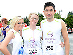 Rebecca Hill, Rhona Dunne and Cathal Khan from Aura Fitness who ran the Newtown Blues 12.5K run. Photo:Colin Bell/pressphotos.ie