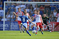 Jay Harris of Tranmere Rovers shoots during Stevenage vs Tranmere Rovers, Sky Bet EFL League 2 Football at the Lamex Stadium on 4th August 2018