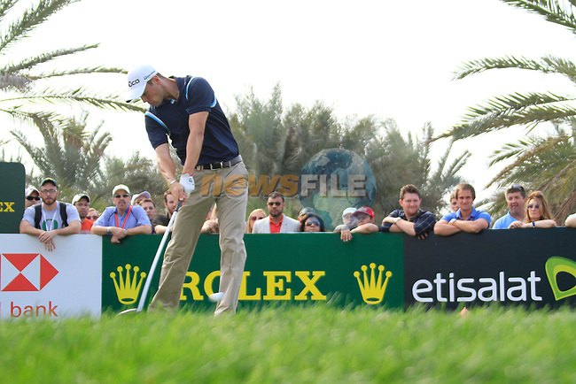 Martin Kaymer tees off on the 9th tee during Day 3 Saturday of the Abu Dhabi HSBC Golf Championship, 22nd January 2011..(Picture Eoin Clarke/www.golffile.ie)