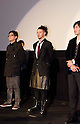 "December, 19th : Tokyo, Japan – (L-R) Je-Kyu Kang, Joe Odagiri, and Jang Dong-gun appear at a press conference for the film ""MY WAY"" in the Shinjuku WALD9 CINEMA. This story is based on a true story during the World War Ⅱ. This film will be released from January 14th. (Photo by Yumeto Yamazaki/AFLO)."