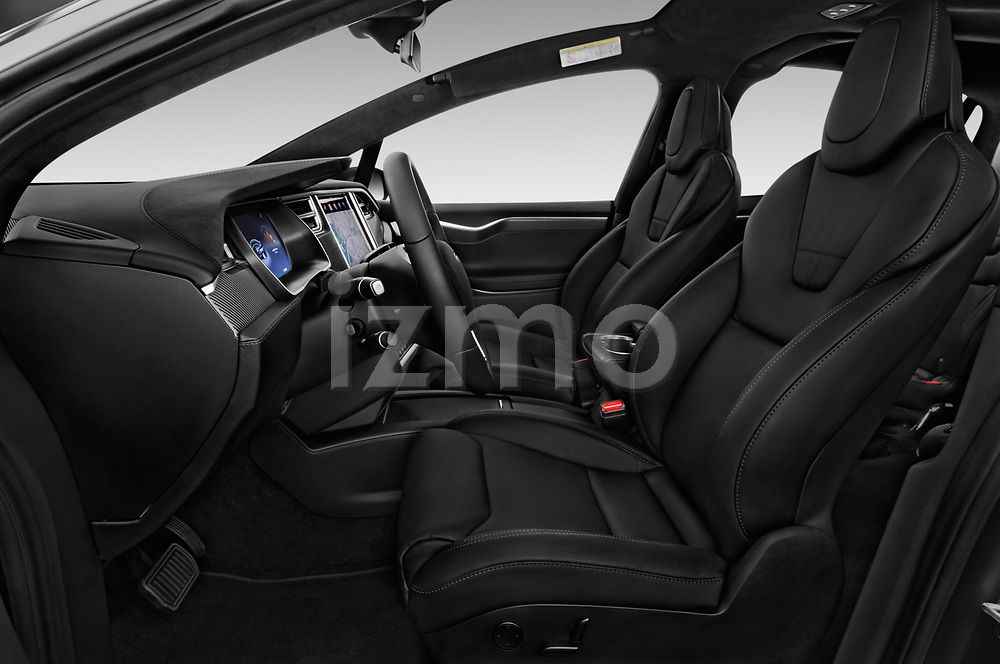 Front seat view of 2017 Tesla Model-X 100D 5 Door SUV Front Seat  car photos