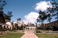 San Diego: Balboa Park. Looking past Botanical Building to Natural History Museum.  Photo '80.