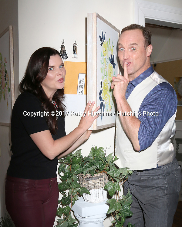 """LOS ANGELES - APR 14:  Heather Tom, Matt Iseman at the """"Home and Family"""" Celebrates """"Bold and Beautiful's"""" 30 Years at Universal Studios Back Lot on April 14, 2017 in Los Angeles, CA"""