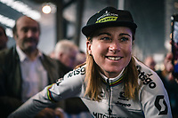 World Champion Annemiek Van Vleuten (NED/Mitchelton Scott) pre race<br /> <br /> 12th Women's Omloop Het Nieuwsblad 2020 (BEL)<br /> Women's Elite Race <br /> Gent – Ninove: 123km<br /> <br /> ©kramon
