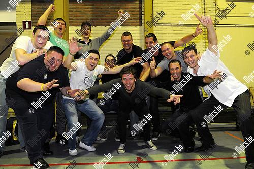 2011-04-09 / Seizoen 2010-2011 / Basketbal / Turuka viert zijn promotie..Foto: mpics
