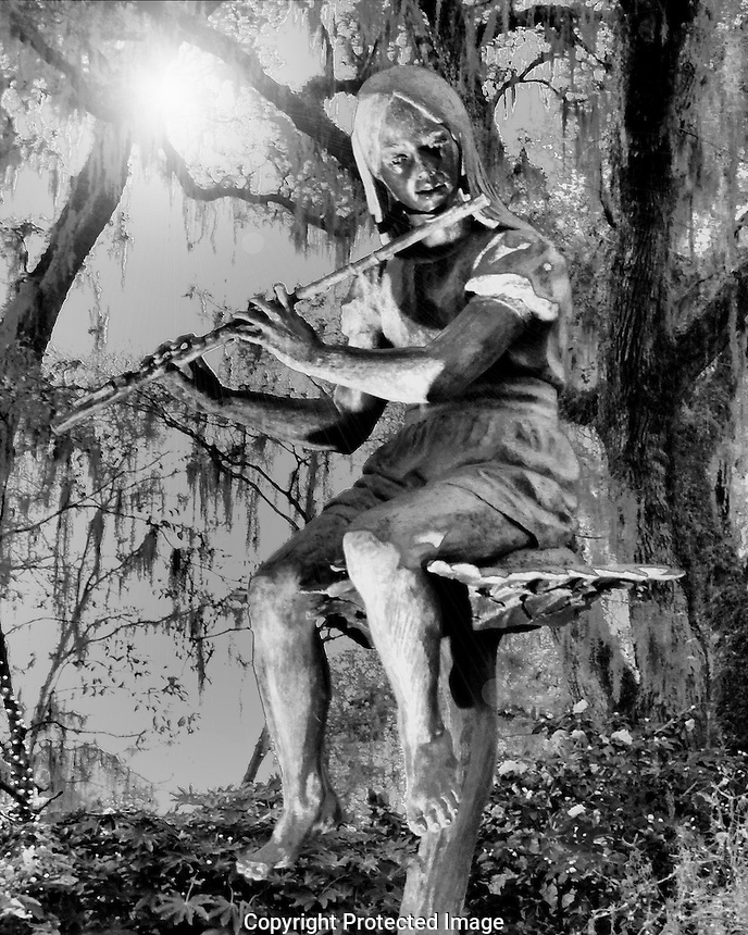Brookgreen Gardens flutist sculpture #2