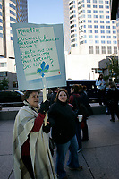 Public Fonction employees protest in downtown Montreal foe better work condition and a salary increase,October 12, 2004<br /> <br /> photo : (c)  Images Distribution