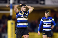 Elliott Stooke of Bath Rugby. Aviva Premiership match, between Bath Rugby and Northampton Saints on February 9, 2018 at the Recreation Ground in Bath, England. Photo by: Patrick Khachfe / Onside Images