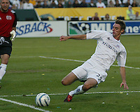 New England Revolution's Andy Dorman against the Los Angeles Galaxy, July 4, 2005 at The Hime Depot Center.