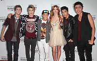 UNIVERSAL CITY, CA - JULY 22: Bella Thorne and IM5 at the 2012 Staples For Students 'Party' For A Cause hosted by Staples, DoSomething.org and Bella Thorne at the Globe Theatre at Universal Studios on July 22, 2012 in Universal City, California © mpi21/MediaPunch Inc. /NortePhoto.com*<br />