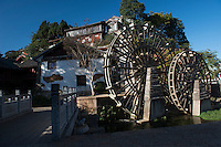 Water wheel in the Old City, Lijiang, Yunnan, China. 10 November 2012.