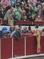 The King of Spain Juan Carlos I and Bullfighter Enrique Ponce