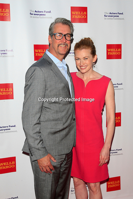 LOS ANGELES - JUN 7: Alan Ruck, Mireille Enos at the Actors Fund's 19th Annual Tony Awards Viewing Party at the Skirball Cultural Center on June 7, 2015 in Los Angeles, CA