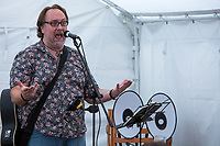 13th July 2019: Comedian Mitch Benn performs his show '10 Songs to Save the World' on day 1 of the 2019 Comedy Crate Festival in Northampton