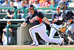 8 March 2011: Atlanta Braves infielder Dan Uggla in action during a Spring Training game against the New York Yankees at Champion Park in Orlando, Florida. The Yankees edged out the Braves 5-4 in Grapefruit League action. Mandatory Credit: Ed Wolfstein Photo