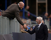 Bath Rugby's Head Coach Todd Blackadder shakes hands with a supporter<br /> <br /> Photographer Bob Bradford/CameraSport<br /> <br /> Premiership Rugby Cup Round 1 - Bath Rugby v Harlequins - Saturday 27th October 2018 - The Recreation Ground - Bath<br /> <br /> World Copyright © 2018 CameraSport. All rights reserved. 43 Linden Ave. Countesthorpe. Leicester. England. LE8 5PG - Tel: +44 (0) 116 277 4147 - admin@camerasport.com - www.camerasport.com