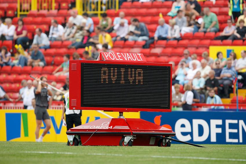 Photo: Richard Lane/Richard Lane Photography. Aviva British Grand Prix, Gateshead. 31/08/2008. Aviva scoreboard.