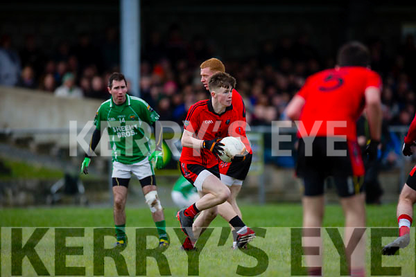 In Action  Glenbeigh/Glencar's Caolim Teahan at  The Mid Kerry Senior Football Championship Final Glenbeigh/Glencar v Milltown/Castlemaine at Killorglin GAA on Sunday