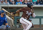 "Socrates Brito swings during the Reno Aces ""Star Wars Night"" game at Greater Nevada Field in Reno on Saturday, June 17, 2017."