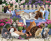 Interlitho-Simonetta, REALISTIC ANIMALS, REALISTISCHE TIERE, ANIMALES REALISTICOS, paintings+++++,cats,KL4587,#a#, EVERYDAY ,puzzle,puzzles,