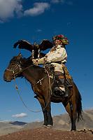 Kazakh men at Altai Eagle festival