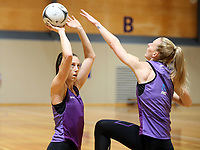 17.08.2017 Silver Ferns Bailey Mes during the Silver Ferns training in Auckland. Mandatory Photo Credit ©Michael Bradley.