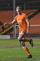 Blackpool's Ben Heneghan celebrates scoring his team's 1st goal <br /> <br /> Photographer Dave Howarth/CameraSport<br /> <br /> The EFL Sky Bet League One - Blackpool v Wycombe Wanderers - Tuesday 29th January 2019 - Bloomfield Road - Blackpool<br /> <br /> World Copyright © 2019 CameraSport. All rights reserved. 43 Linden Ave. Countesthorpe. Leicester. England. LE8 5PG - Tel: +44 (0) 116 277 4147 - admin@camerasport.com - www.camerasport.com