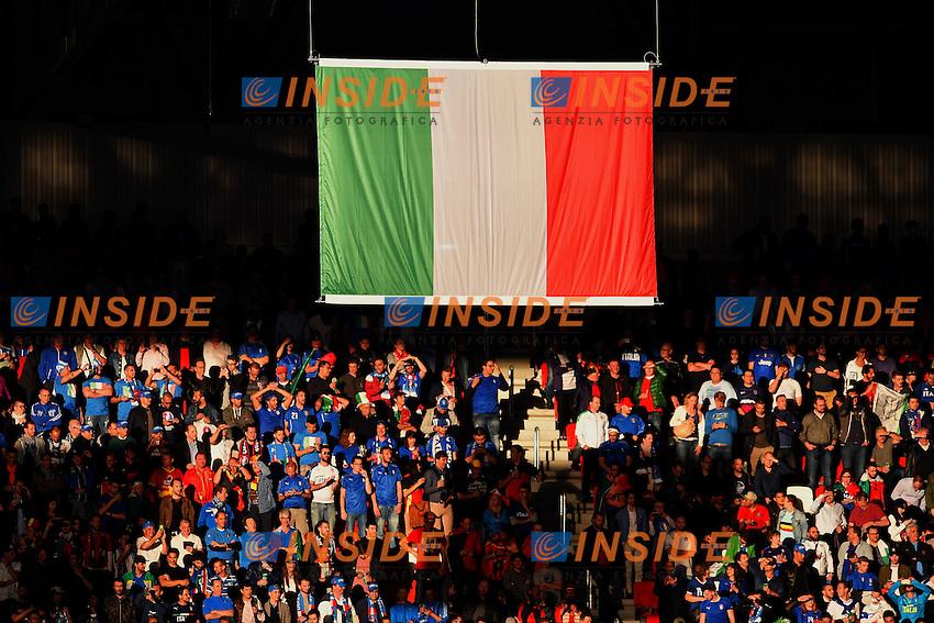Tifosi Bandiera Italia Supporters <br /> Lyon 13-06-2016 Grand Stade de Lyon Football Euro2016 Belgium-Italy / Belgio-Italia Group Stage Group E. Foto Frederic Chambert / Panoramic / Insidefoto