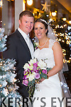 Marie O'Connor, Tralee, daughter of John James and Catherine O'Connor, and Thomas Greaney, Tralee, son of Michael and Mary Greaney, were married at St. Mary's Church Castlegregory by Fr. Hussey on Saturday 20th 2014 with a reception at the Fels point hotel