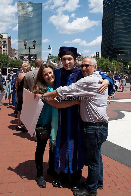 Seton Hall Graduation Joan, Jonathan, David Weisbrod
