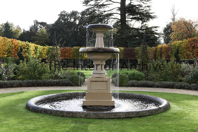 A tiered fountain in one of the gardens at Williamstrip