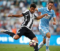 Calcio, Serie A: Lazio vs Juventus. Roma, stadio Olimpico, 27 agosto 2016.<br /> Juventus&rsquo; Sami Khedira, left, prepares to kick to score the winning goal as Lazio&rsquo;s Stefan De Vrij tries to challenge him during the Serie A soccer match between Lazio and Juventus, at Rome's Olympic stadium, 27 August 2016. Juventus won 1-0.<br /> UPDATE IMAGES PRESS/Isabella Bonotto