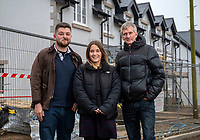 BNPS.co.uk (01202 558833)<br /> Pic: PhilYeomans/BNPS<br /> <br /> L-r Callum Howlett, Kirsty Goddard and Gary Parratt are hopeful of getting their own local home.<br /> <br /> Fresh hope for locals in battle for homes against the tide of second home coastal 'ghost' villages.<br /> <br /> Nine discounted homes have been built in one of the worst areas of the country for affordable housing, bringing fresh hope to local first-time buyers.<br /> <br /> The properties are being offered for sale at 75 per cent of the market price with a strict covenant in place that they can only be sold locals.<br /> <br /> And when the time comes for the owners to sell them on, the asking price must also be 25 per cent less than their true value.<br /> <br /> The properties have been built in the so-called ghost village village of Worth Matravers on the picturesque Isle of Purbeck in Dorset.<br /> <br /> Sixty per cent of the 180 houses in the village belong to second homeowners and lay empty most of the time.