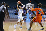 17 November 2015: North Carolina's Stephanie Watts (5) and Florida A&M's Kenya Dixon (34). The University of North Carolina Tar Heels hosted the Florida A&M University Rattlers at Carmichael Arena in Chapel Hill, North Carolina in a 2015-16 NCAA Division I Women's Basketball game. UNC won the game 94-58.