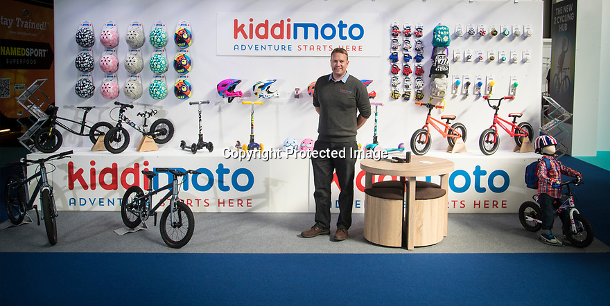 27/09/18<br /> <br /> ***Free photo for social media use***<br /> <br /> Kiddimoto stand at the Cycle Show, NEC, Birmingham<br /> <br /> <br /> All Rights Reserved, F Stop Press Ltd. (0)1335 344240 +44 (0)7765 242650  www.fstoppress.com rod@fstoppress.com