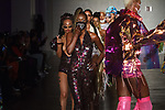 Models walk runway in outfits from the Lava Woman collection at Cope NYC, on October 12, 2019, during Fashion Week Brooklyn Spring Summer 2020.