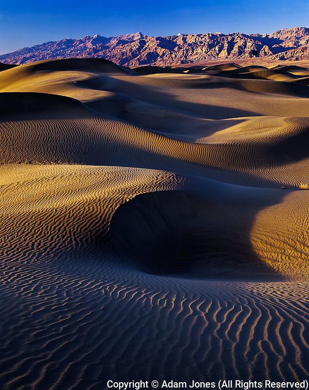 Dunes at sunset, Death Valley National Park, California