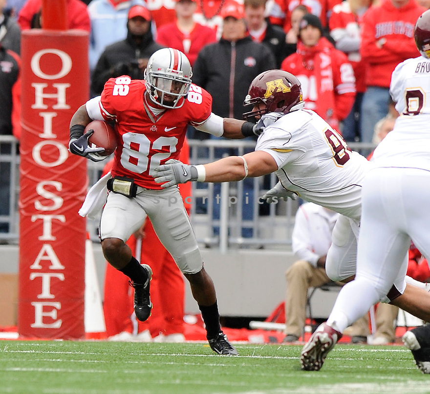 RAY SMALL, of the Ohio State Buckeyes in action during the Buckeyes  game against the Minnesota Golden Gophers on October 24, 2009 in Columbus, OH. Ohio State won 38-7..