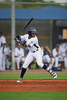 GCL Rays Oneill Manzueta (51) at bat during a Gulf Coast League game against the GCL Pirates on August 7, 2019 at Charlotte Sports Park in Port Charlotte, Florida.  GCL Rays defeated the GCL Pirates 4-1 in the first game of a doubleheader.  (Mike Janes/Four Seam Images)