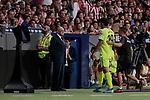 Getafe CF's Jorge Molina dejected during La Liga match between Atletico de Madrid and Getafe CF at Wanda Metropolitano Stadium in Madrid, Spain. August 18, 2019. (ALTERPHOTOS/A. Perez Meca)
