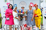Winners Alright at the Listowel Races June Bank Holiday Meeting Ladies Day on Sunday. From left Nadine Smith (1st runner up), judge and organiser Eilish Stack, winner of the Best Dressed Lady, Mary Woulfe, head judge Sinead O'Brien and Claire Hilliard (2nd runner up).