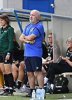 20190807 - DENDERLEEUW, BELGIUM : Linfield's head coach Philip Lewis pictured during the female soccer game between the Norwegian LSK Kvinner Fotballklubb Ladies and the Northern Irish Linfield ladies FC , the first game for both teams in the Uefa Womens Champions League Qualifying round in group 8 , Wednesday 7 th August 2019 at the Van Roy Stadium in Denderleeuw  , Belgium  .  PHOTO SPORTPIX.BE for NTB  | DAVID CATRY